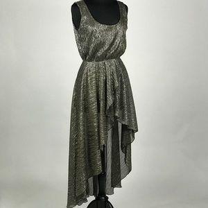 Love Metallic Hi/Lo Dress